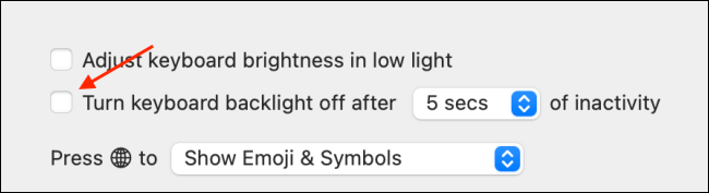 Enable Keyboard Backlight Inactivity Feature on Mac