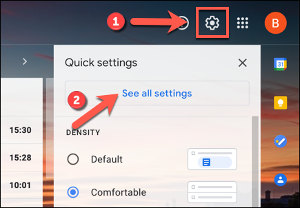 """In the Gmail web interface, click the gear icon for settings> See all settings."""" width=""""435″ height=""""302″/></p> <p>In the """"General"""" tab of Gmail's """"Settings"""" menu, scroll down to the """"Conversation View"""" section, then click the """"Conversation View Off"""" option.</p> <p><img class="""