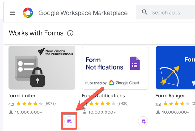 """Click """"Install"""" to add formLimiter to your Google Forms add-ons."""