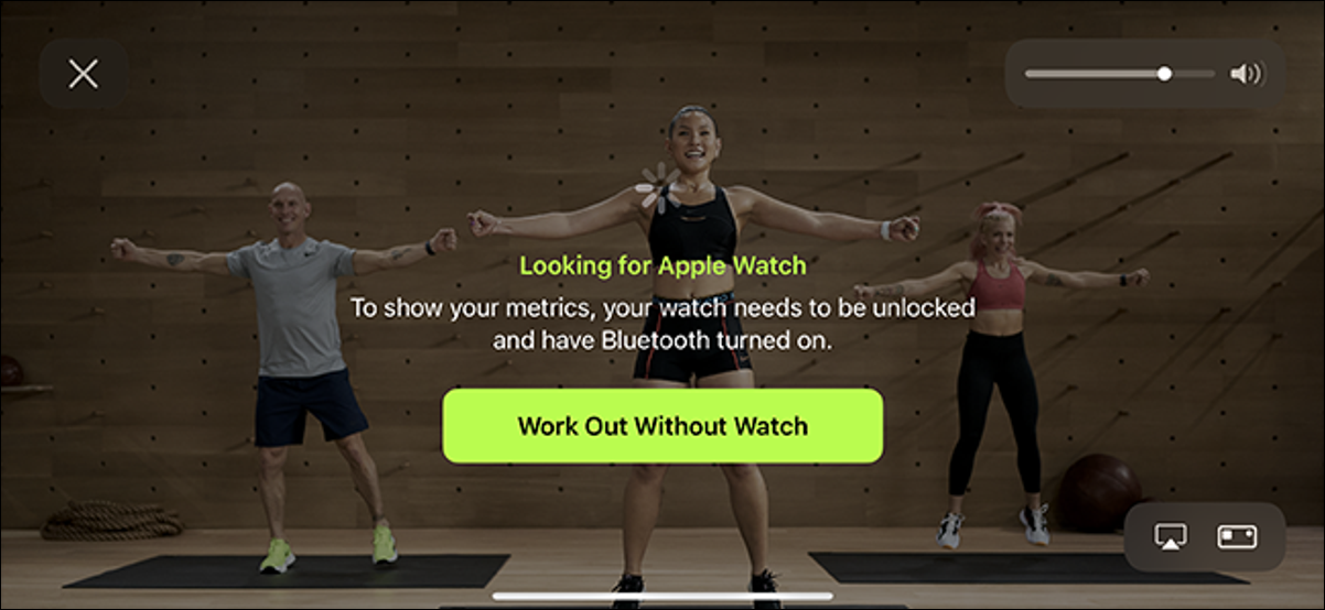 workout without a watch apple fitness+ option