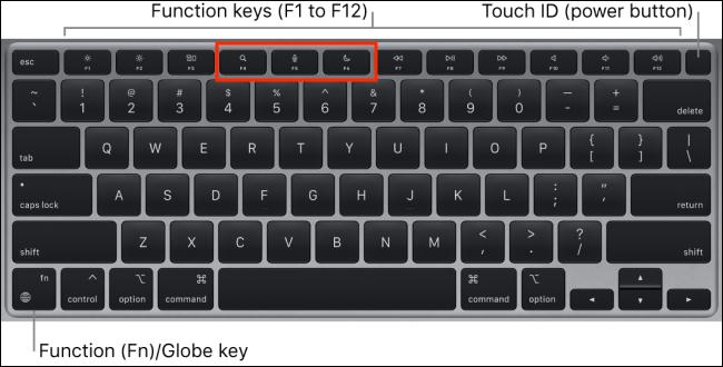 MacBook Air 2020 M1 Keyboard With New Keys