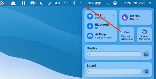 Move Keyboard Brightness Module to Menu Bar