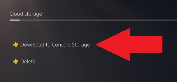 PS4 saves downloaded to console storage from the cloud