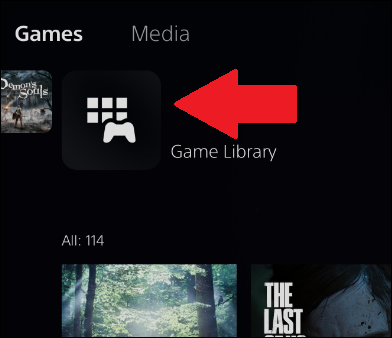 where to find ps5 game library in main menu