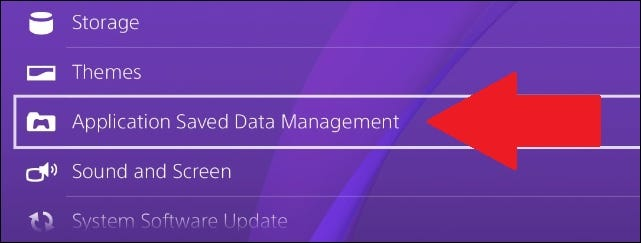 where to find saved data on ps4