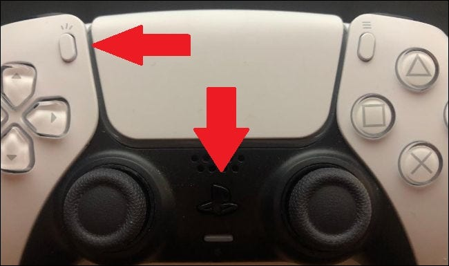 pairing mode activated with create and playstation buttons on dualsense controller