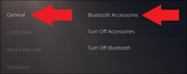 where to find bluetooth settings in PS5