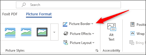 Picture border option