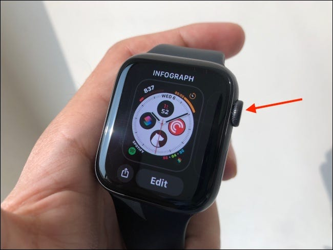 Press Digital Crown to Go Back to Watch Face