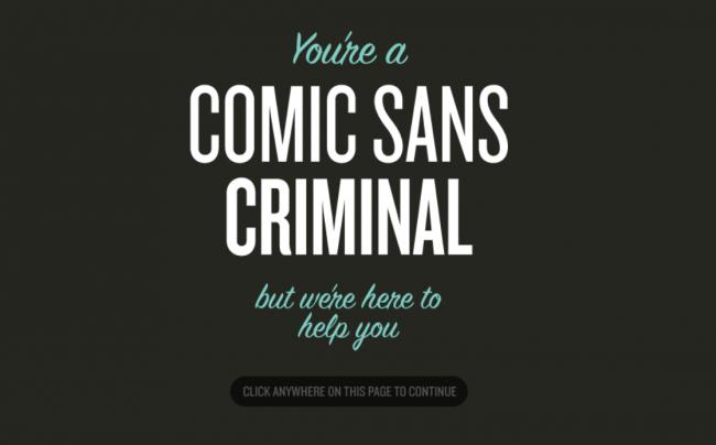 comic sans criminal website
