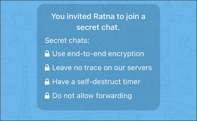 Secret Chat Started on Telegram