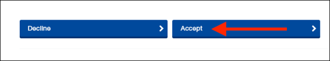 Select Accept From Terms Page