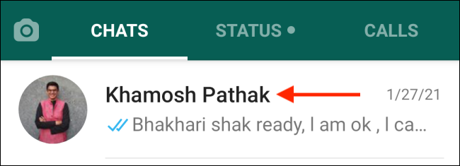 Select Contact from WhatsApp