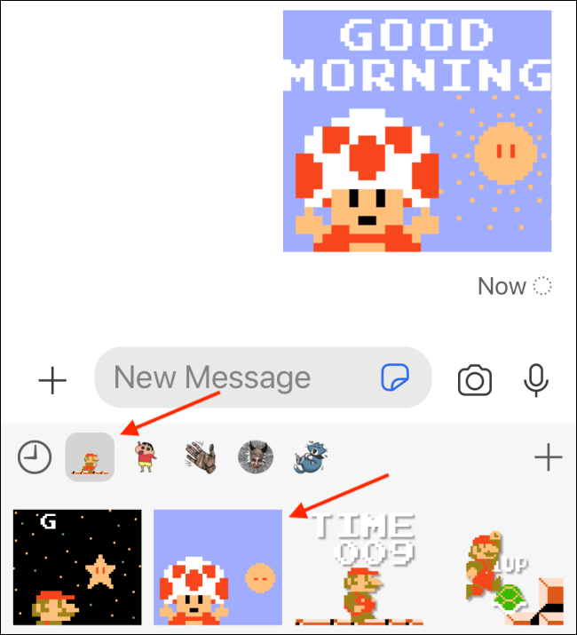 Select New Sticker Pack and Sticker to Send to Signal