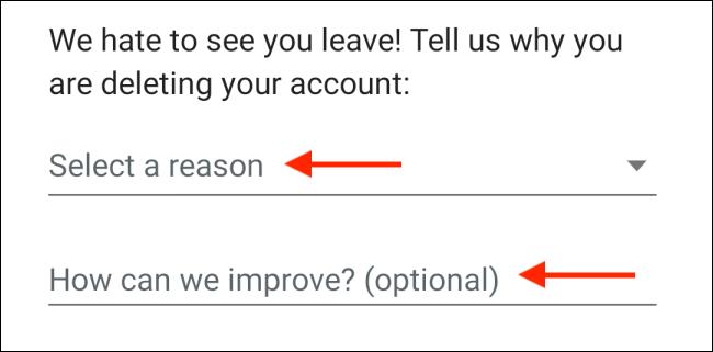 Select Reason For Leaving WhatsApp