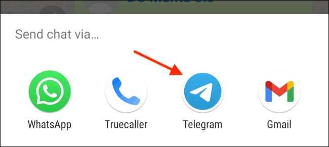 Select Telegram From Share Sheet