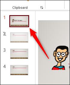 Selected slide in PowerPoint