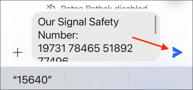 Send Safety Number