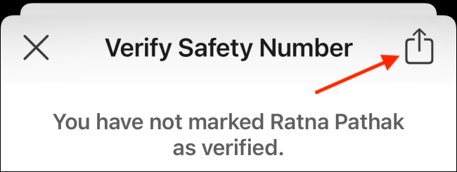 Share Safety Number