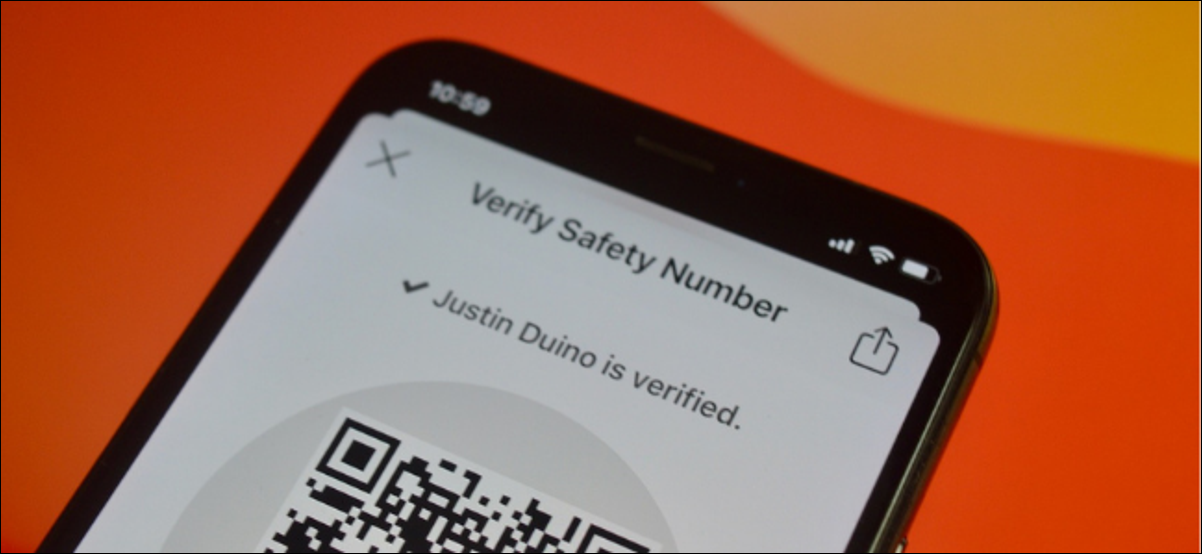 Signal User Verifying Number For Security