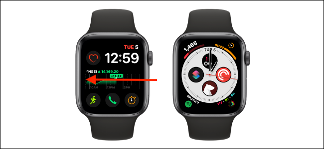 Swipe from Left or Right Edge to Change Watch Face on Apple Watch