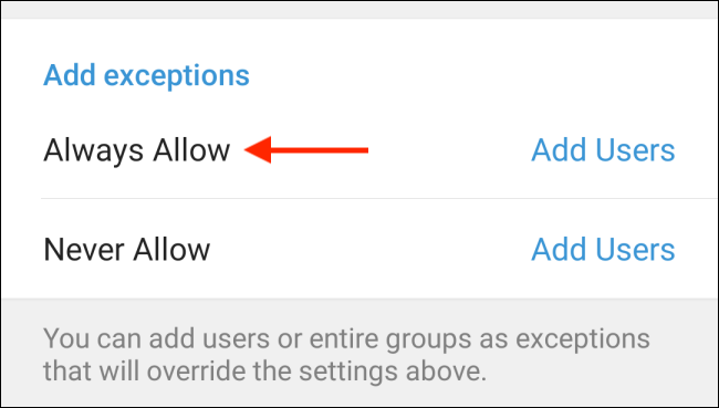 Tap Always Allow from Telegram on Android