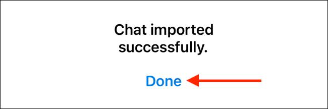 Tap Done to Finish Telegram Import