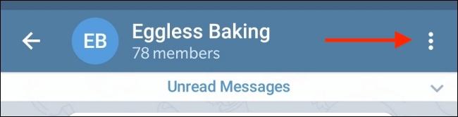 Tap Menu Button from Conversation in Telegram