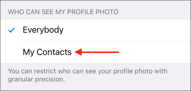 Tap My Contacts from Telegram for iPhone