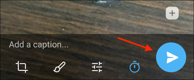 Tap Send Button in Telegram for Android