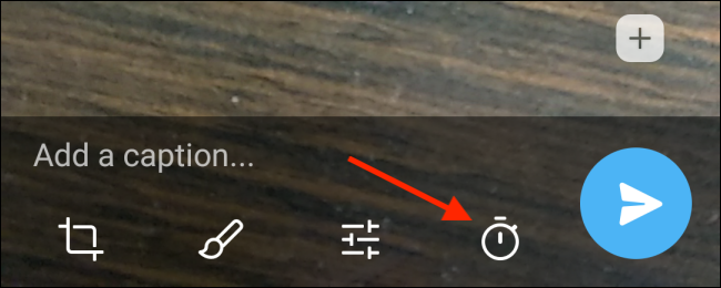 Tap Timer Button in Telegram for Android