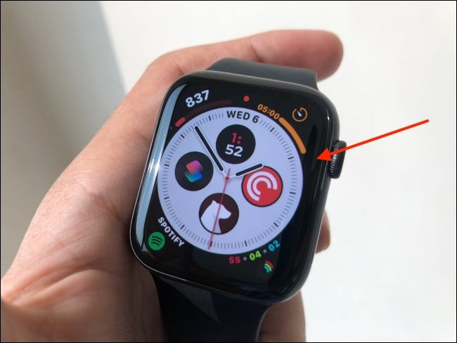 Tap and hold Watch Face to Enter Editing Mode