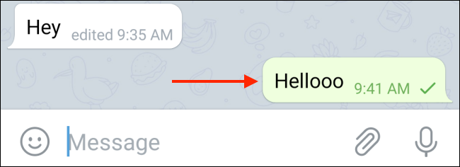 Tap and hold message in Telegram on Android