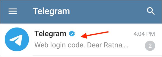 Telegram Conversation in Telegram App