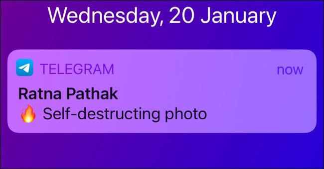 Telegram Notification for Self Destructing Photo