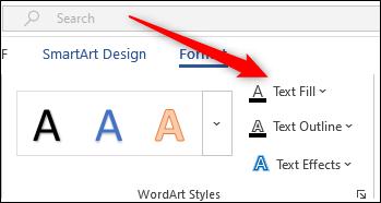 Text fill option