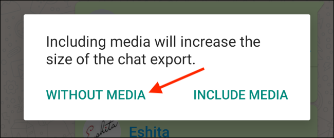 That Without Media in WhatsApp