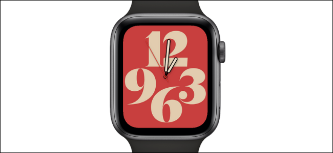 Typography Watch Face on Apple Watch