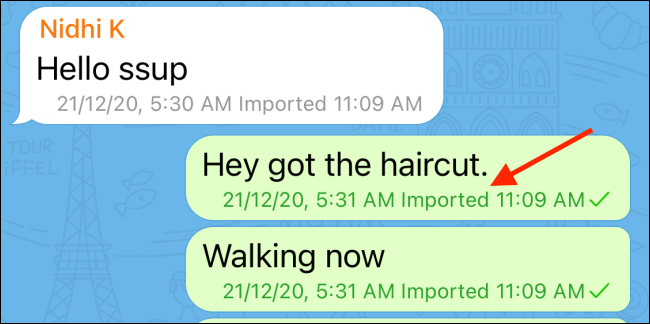 WhatsApp Chat Imported to Telegram