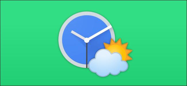 Google weather clock icon
