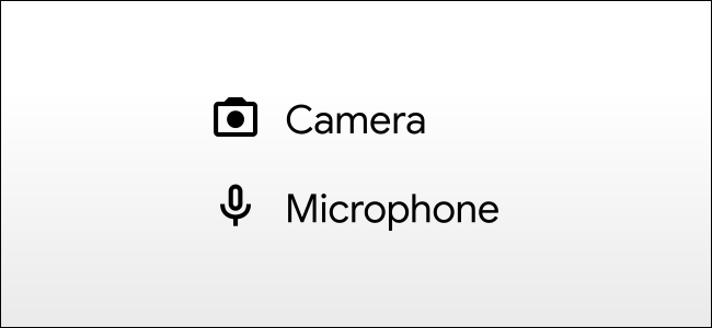 android camera and mic icons