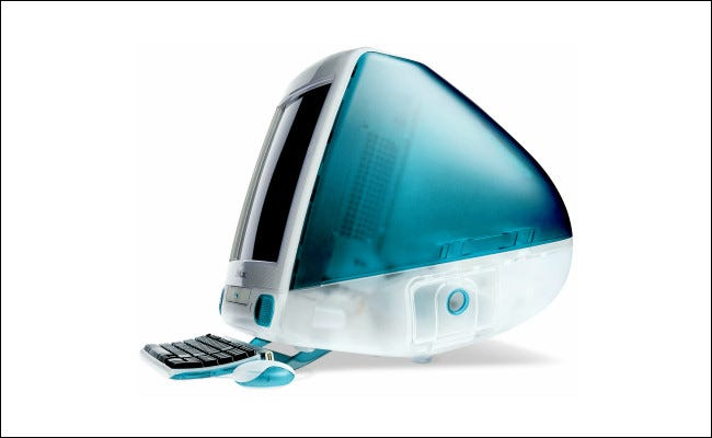 The Apple iMac in 1998.