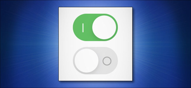Un esempio di etichette per interruttori di accensione/spegnimento per iPhone e iPad di Apple