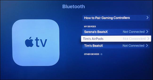 Emparelhe manualmente os AirPods com a Apple TV