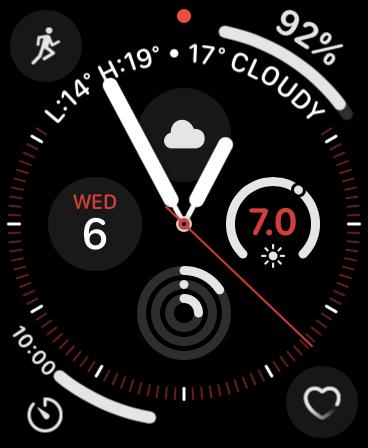 Dark Face on Apple Watch