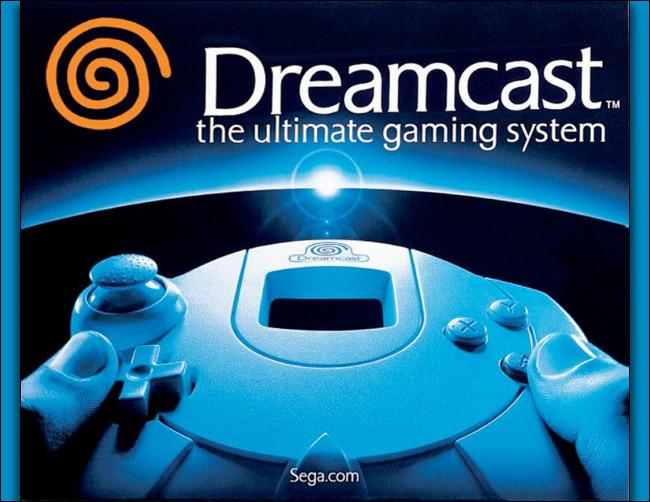 A Sega Dreamcast gaming system box.