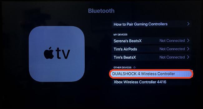 Ghép nối DualShock 4 với Apple TV