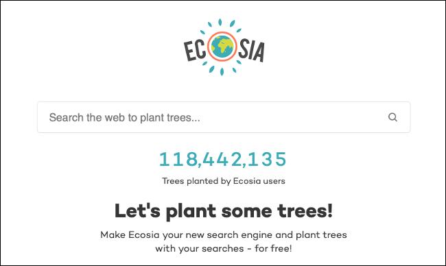 Zapytanie wyszukiwania Ecosia