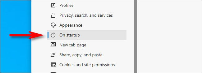In the sidebar, select Edge Settings
