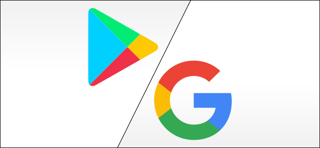 google play and google logos